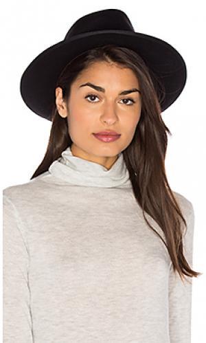 Шляпа федора manhattan Brixton. Цвет: черный