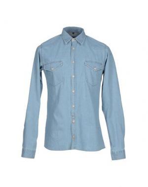 Джинсовая рубашка JUNK DE LUXE. Цвет: синий