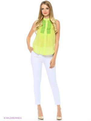 Блузка SEVONA. Цвет: салатовый