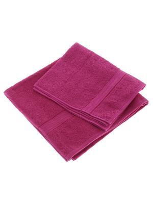 Махровое полотенце малина 70*140-100% хлопок, УзТ-ПМ-114-08-28 Aisha. Цвет: малиновый