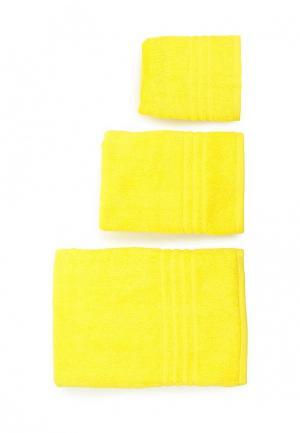 Комплект полотенец 3 шт. Arloni. Цвет: желтый
