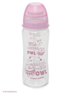 Бутылочка антиколиковая, 330 мл Canpol babies. Цвет: розовый