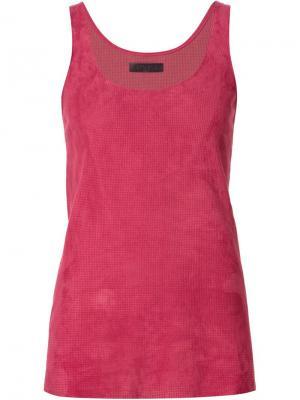 Топ Marcel Stouls. Цвет: розовый и фиолетовый