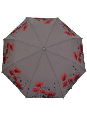 Зонт H.DUE.O. Цвет: коричневый, красный