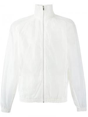 Куртка-бомбер с полупрозрачными рукавами Cottweiler. Цвет: белый