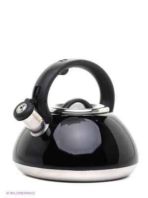 Чайник металлический Bekker. Цвет: черный