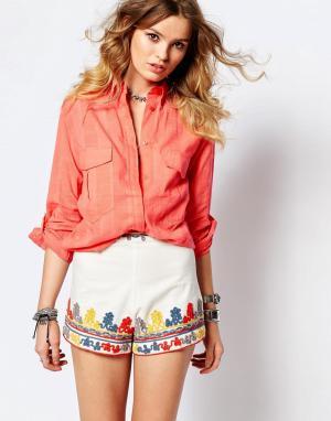 Gat Rimon Рубашка абрикосового цвета. Цвет: оранжевый