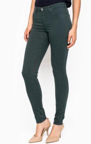 Зауженные брюки из хлопка и лиоцелла Kocca. Цвет: зеленый