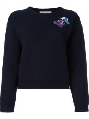 Джемпер с принтом логотипа Carven. Цвет: синий