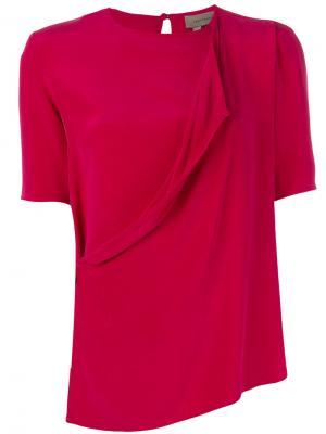 Классическая блузка Tony Cohen. Цвет: розовый и фиолетовый