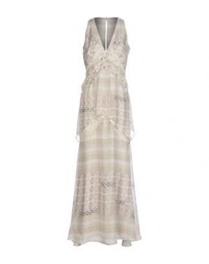 Длинное платье BDBA. Цвет: светло-серый