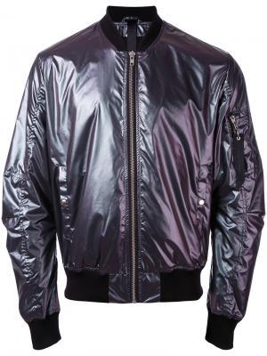 Куртка-бомбер Tech Odeur. Цвет: розовый и фиолетовый