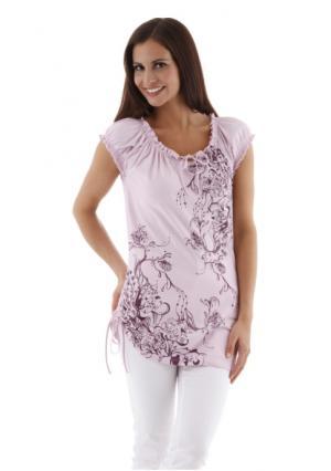 Кофточка CHEER. Цвет: розовый/лиловый, цвет лайма с рисунком