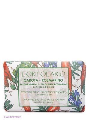 Натуральное мыло с ароматом розмарина и экстрактом моркови, 150 гр Iteritalia. Цвет: оранжевый