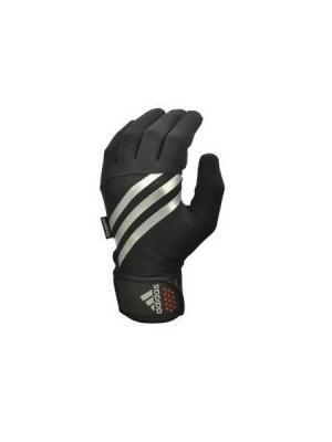 Тренировочные перчатки Adidas утепленные. Цвет: черный, красный, серый