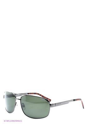 Солнцезащитные очки Polaroid. Цвет: серо-зеленый