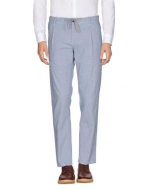 Повседневные брюки SIVIGLIA WHITE. Цвет: небесно-голубой