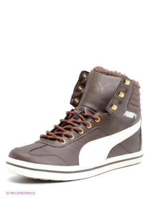 Кроссовки Tatau Sneaker Boot Puma. Цвет: коричневый, белый