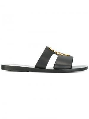 Босоножки Apteros Ancient Greek Sandals. Цвет: чёрный