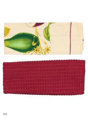 Набор кухонных полотенец - 2шт. (38*64) Dorothy's Нome. Цвет: лиловый