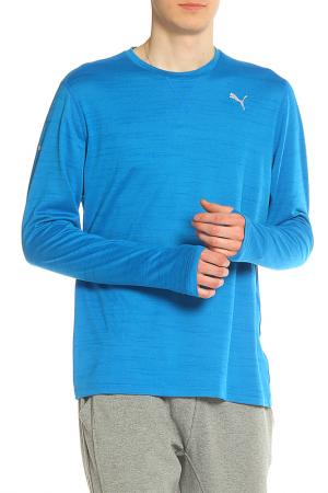 Лонгслив Puma. Цвет: electric blue lemonade heather