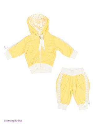Велюровый костюм babyAngel. Цвет: желтый