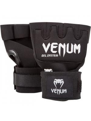 Гелевые бинты боксерские Venum Gel Kontact Glove Wraps. Цвет: черный