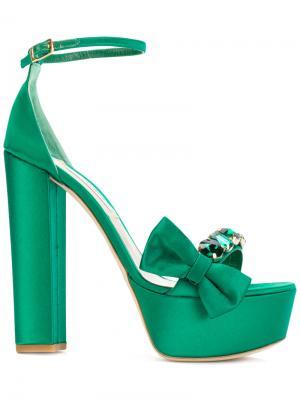 Босоножки Candice Olgana. Цвет: зелёный