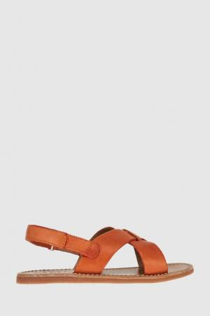 Кожаные сандалии Pom D'Api. Цвет: оранжевый