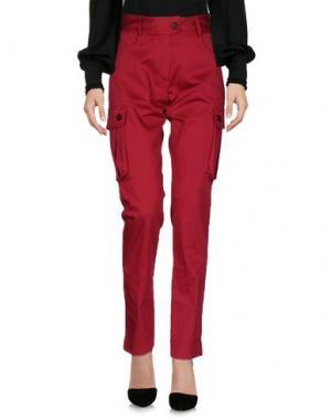Повседневные брюки MEAM BY RICARDO PRETO. Цвет: красно-коричневый