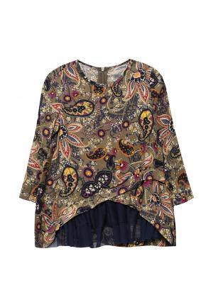 Блуза Fleur de Vie. Цвет: хаки
