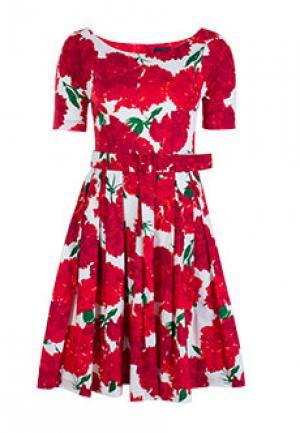 Платье SAMANTHA SUNG. Цвет: красный