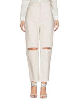 Повседневные брюки CHARLIE MAY. Цвет: светло-серый