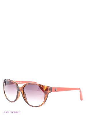Солнцезащитные очки Franco Sordelli. Цвет: коричневый, коралловый