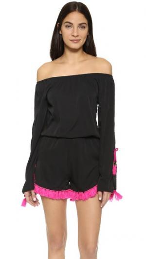 Комбинезон Victoria SUNDRESS. Цвет: черный/розовый