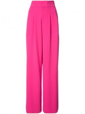 Строгие широкие брюки Alice+Olivia. Цвет: розовый и фиолетовый