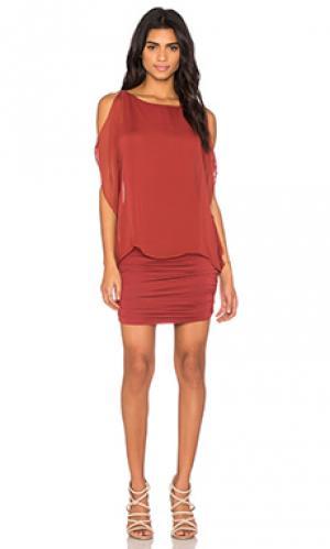 Платье dallal Bailey 44. Цвет: ржавый