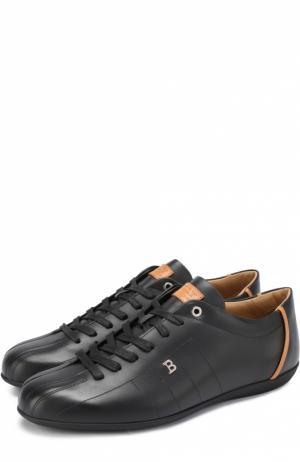 Кожаные кроссовки на шнуровке Bally. Цвет: черный