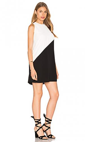Платье колорблок Bishop + Young. Цвет: black & white