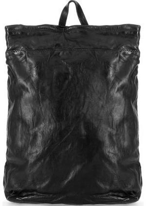 Черный кожаный рюкзак Campomaggi. Цвет: черный