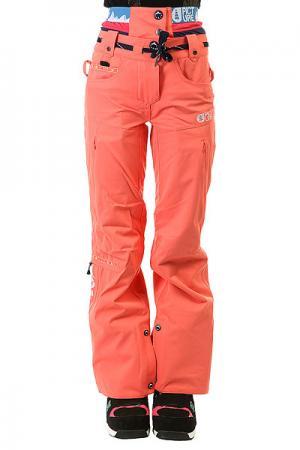 Штаны сноубордические женские  Slany Corail Picture Organic. Цвет: розовый