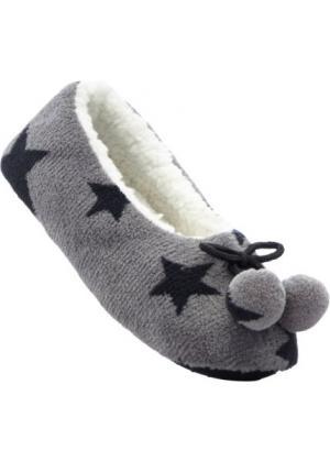 Тапочки с принтом со звездами (серый) bonprix. Цвет: серый