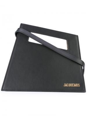 Трапециевидный клатч Jacquemus. Цвет: чёрный