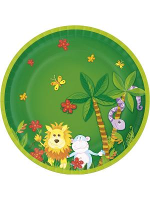 Тарелки Бумажные DUNICEL диаметр 22 см DUNI. Цвет: белый, зеленый, голубой, красный, желтый