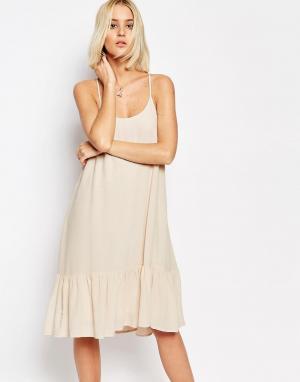 Gestuz Платье с бретельками и заниженной талией Vea. Цвет: розовый