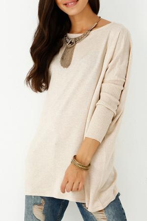 Пуловер Sateen. Цвет: бежевый