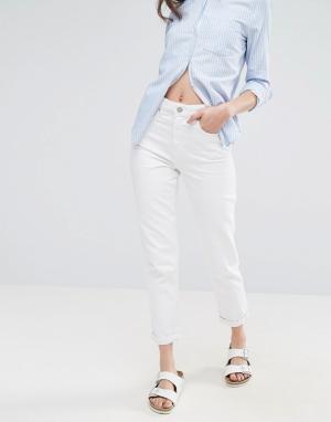 Waven Белые джинсы в винтажном стиле. Цвет: белый