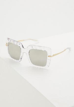 Очки солнцезащитные Dolce&Gabbana. Цвет: белый