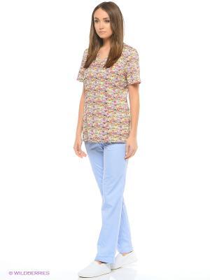 Брюки медицинские Med Fashion Lab. Цвет: светло-голубой