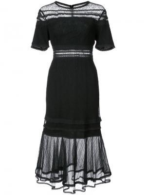 Платье с прозрачной панелью Jonathan Simkhai. Цвет: чёрный